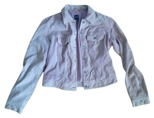 Gap Suede Denim Style dusty pink Leather Jacket