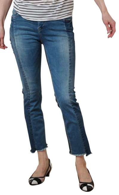 Item - Denim Medium Wash Pilcro Parallel Mid-rise Straight Leg Jeans Size 29 (6, M)