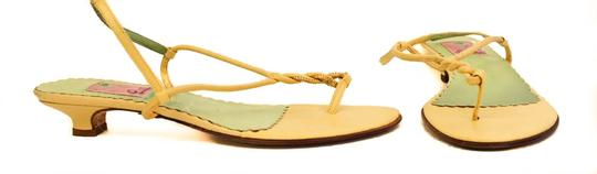 Lilly Pulitzer Low Heel Size 9 1/2 Yellow Sandals