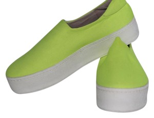 Opening Ceremony Textile Lime Neon Flats
