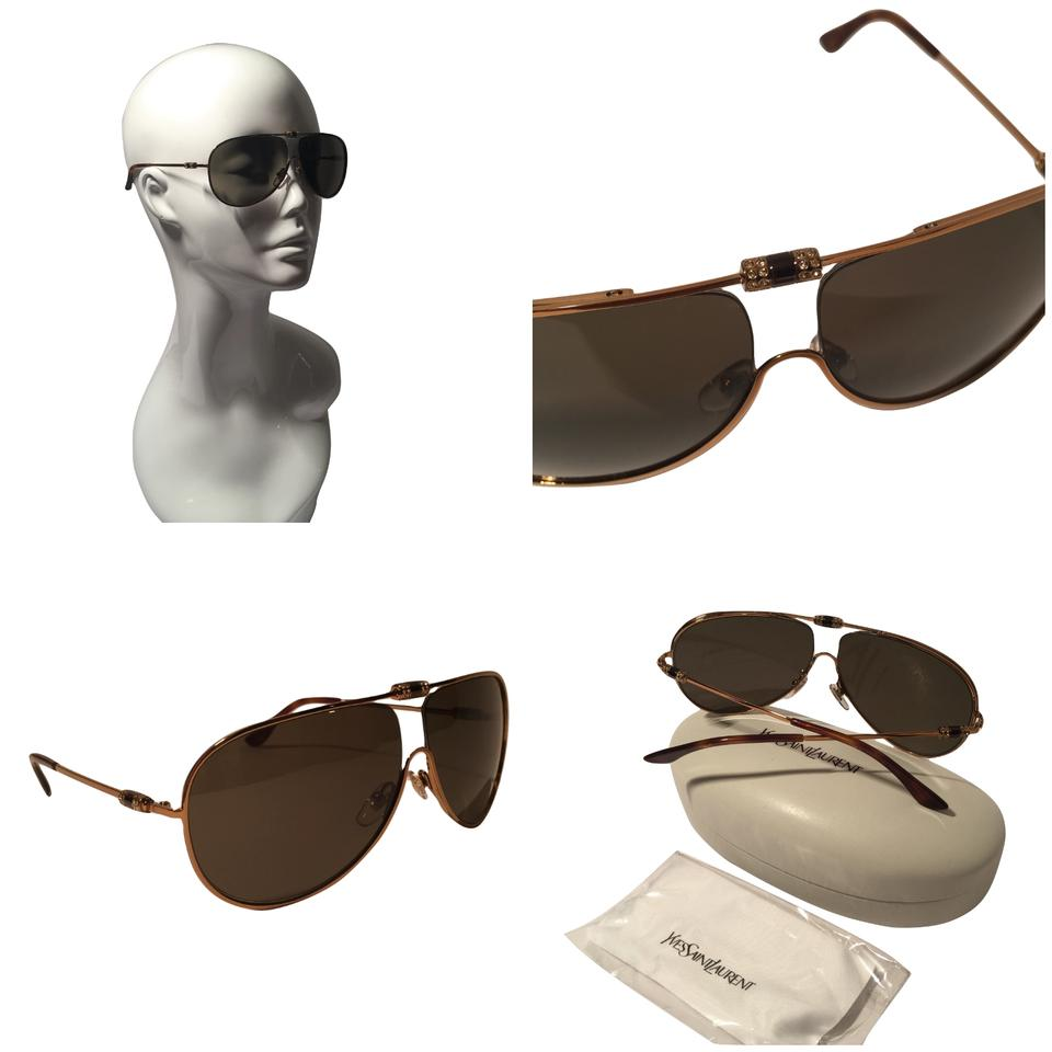 fd72dd90a9 Saint Laurent NEW W  Case YSL SUNGLASSES ~ Stunning Crystal Aviator Image 0  ...