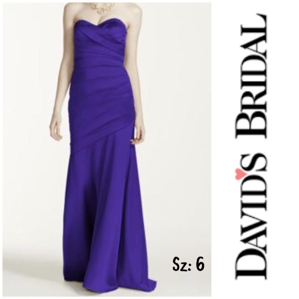 4b299cb02c3 David s Bridal Regency Polyester F15586 Formal Bridesmaid Mob Dress ...