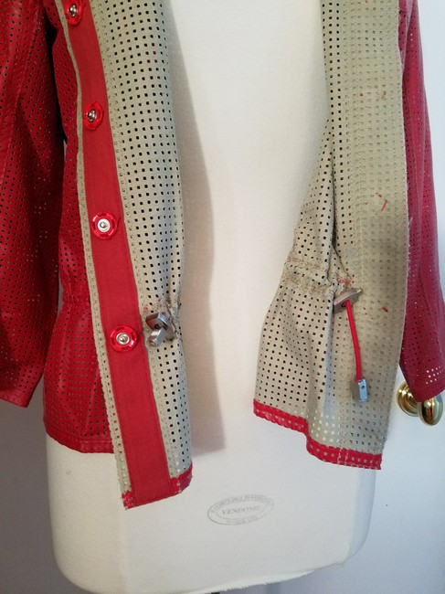 W by Worth Cropped Ready-to-wear Spring Summer Faux Leather red Jacket Image 2