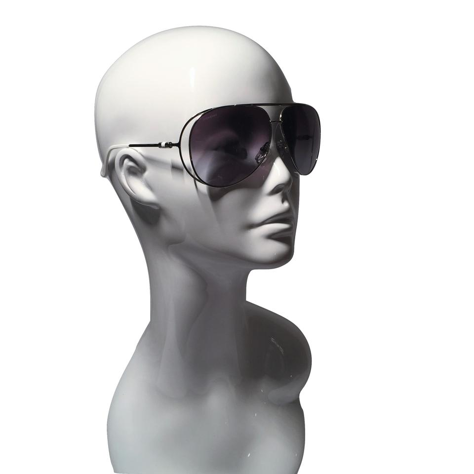 a79abeed51 Saint Laurent New W W  Case Ysl Stunning Silver Aviator Sunglasses ...