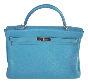 Hermès Satchel in Turquoise/ Blue