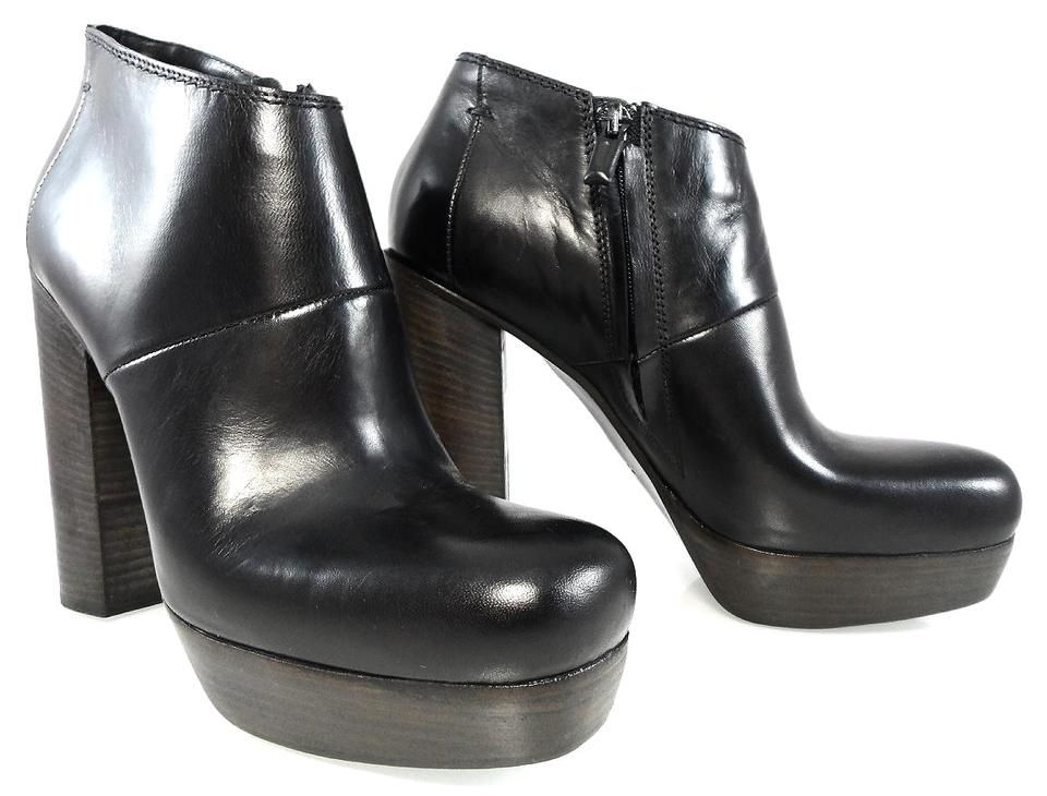 976b7ffd714 CoSTUME NATIONAL Black Leather Ankle Platform Chunky Heels Boots/Booties  Size EU 39.5 (Approx. US 9.5) Regular (M, B) 67% off retail