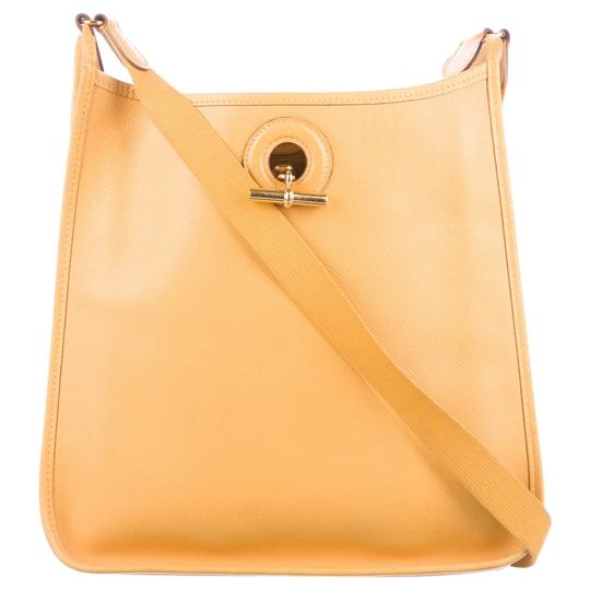 Preload https://item2.tradesy.com/images/hermes-yellow-leather-cross-body-bag-2219681-0-3.jpg?width=440&height=440
