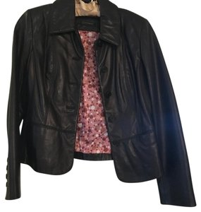 Collective Concepts black Leather Jacket