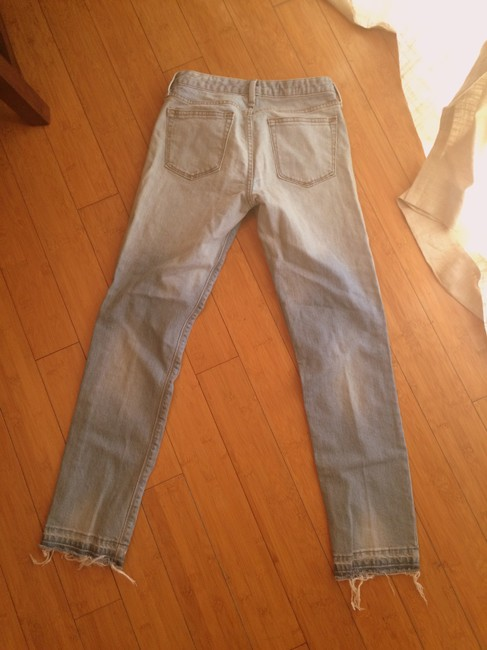 Gap 1969 Low-rise Faded Distressed 27l Destructed Vintage Straight Leg Jeans-Distressed