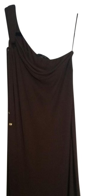 Item - Brown Mid-length Cocktail Dress Size 8 (M)