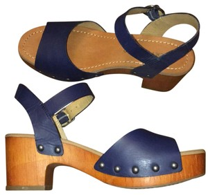 Lucky Brand blue Mules