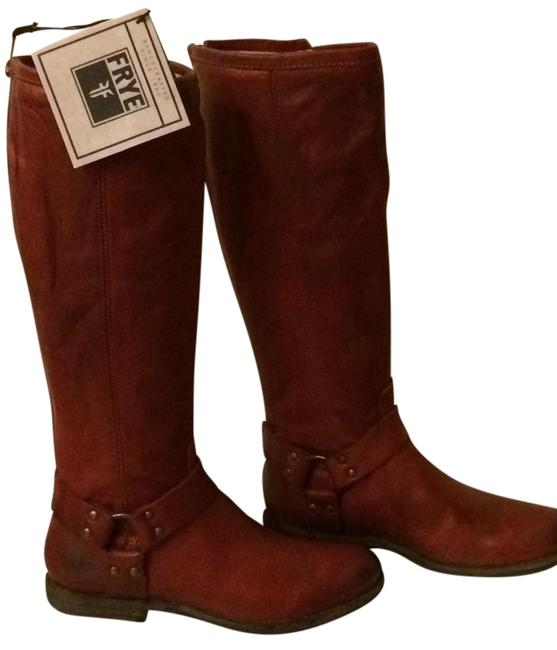 Item - Burnt Red Box W Phillip Harness Back Zip New In W. Tag Boots/Booties Size US 8 Regular (M, B)