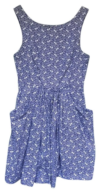 Item - Blue Fabulously British with Pockets Short Casual Dress Size 4 (S)