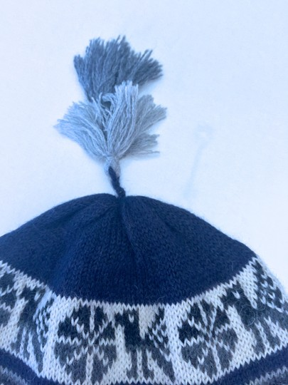 Band New 100% Baby Alpaca Beanie boy's hat Blue/White on ...