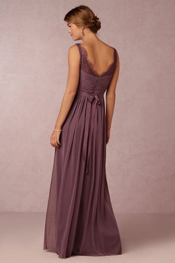 BHLDN Antique Orchid Nylon Tulle Lace; Polyester Lining Fleur Formal Bridesmaid/Mob Dress Size 6 (S) Image 1