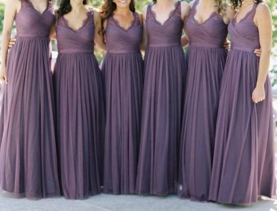 BHLDN Antique Orchid Nylon Tulle Lace; Polyester Lining Fleur Formal Bridesmaid/Mob Dress Size 6 (S) Image 2