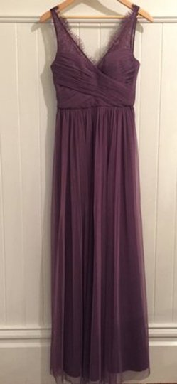 BHLDN Antique Orchid Nylon Tulle Lace; Polyester Lining Fleur Formal Bridesmaid/Mob Dress Size 6 (S) Image 3
