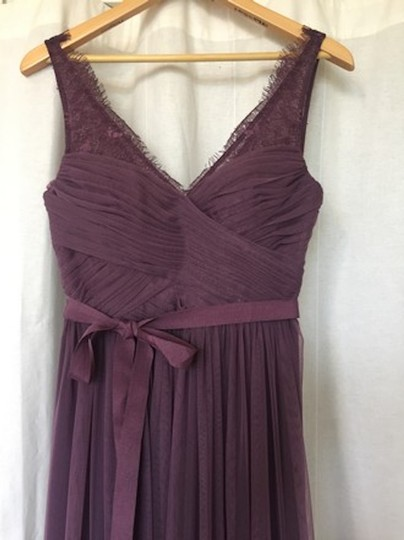 BHLDN Antique Orchid Nylon Tulle Lace; Polyester Lining Fleur Formal Bridesmaid/Mob Dress Size 6 (S) Image 4