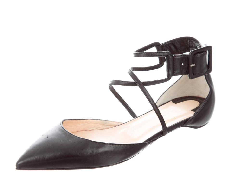 b65d5e43c82 Christian Louboutin Black Leather Suzanna D'orsay Pointed-toe Flats Size EU  39 (Approx. US 9) Regular (M, B) 30% off retail
