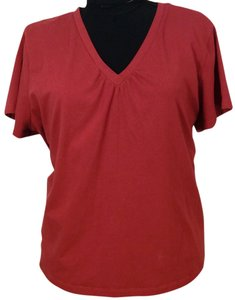 Sonoma T Shirt Red V-Neck Comfortable Tee 3x