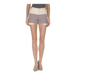 See by Chloé Cotton Mini/Short Shorts Grey and Ivory