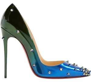 Christian Louboutin Degraspike Spike Stiletto Sokate Pigalle green Pumps