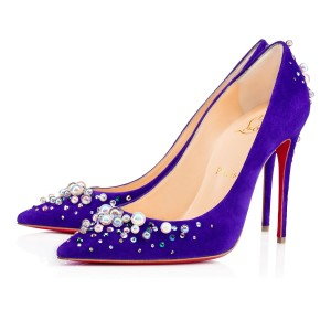Christian Louboutin Candidate Stiletto Pearl Classic Pigalle purple Pumps
