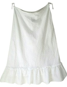 Jones New York Cotton Skirt white
