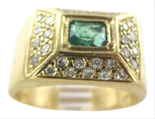 Preload https://item3.tradesy.com/images/gold-14kt-solid-yellow-emerald-32-diamonds-1-carat-101-grams-95-ring-2219967-0-0.jpg?width=440&height=440