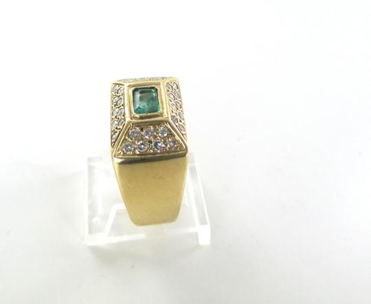 Other 14KT SOLID YELLOW GOLD RING JEWEL EMERALD 32 DIAMONDS 1 CARAT 10.1 GRAMS SZ 9.5