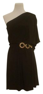 Wishes Wishes Wishes Bat-wing One Shoulder Party Belted Dress