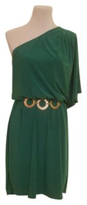 Wishes Wishes Wishes One Shoulder Belted Party Holiday Dress