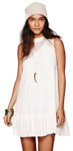 Free People short dress Cream Lace Boho Short on Tradesy