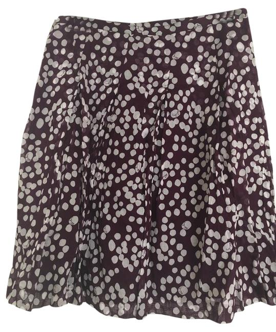 Item - Purple and White Patterned Skirt Size 8 (M, 29, 30)