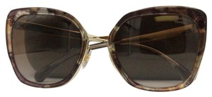 Chanel Square Butterfly Brown Gold Polarized Sunglasses 4209 c.463/S9