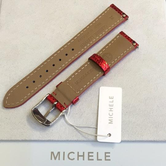Michele NWT MICHELE 16MM RED CARPET PATENT WATCH BAND STRAP