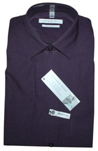Geoffrey Beene 17 Slv 34/35 Button Down Shirt EGGPLANT