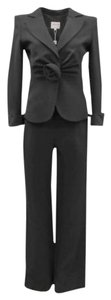 Armani Collezioni ARMANI COLLEZIONI Black Silk Dressy Jacket & Pants Suit Set Sz 4