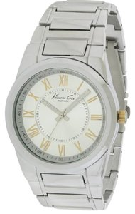 Kenneth Cole KCW3032 Men's Silver Steel Band With Silver Analog Dial Watch NWT
