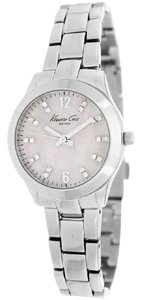 Kenneth Cole KCW4020 Women's Silver Steel Band With Mother Of Pearl Dial