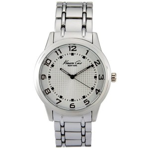 Kenneth Cole 10014652 Men's Silver Steel Band With Silver Analog Dial