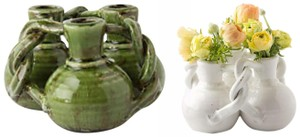 Anthropologie Green Interlocking Trio Vase Decorative Objects