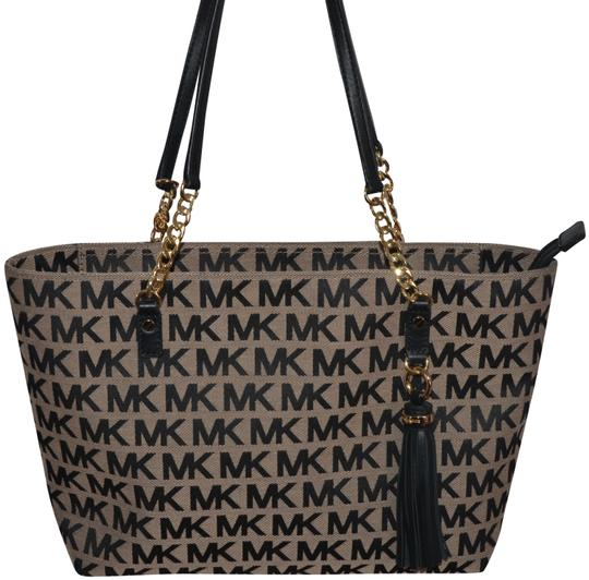 80614d7d198c Michael Kors Jet Set Beige Leather Shoulder Bag | Stanford Center ...