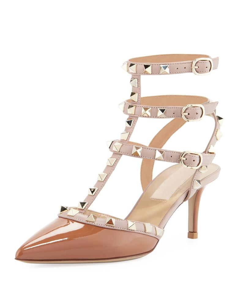 valentino new rockstud kitten heels patent sz 35 5 brown pumps on sale 40 off pumps on sale. Black Bedroom Furniture Sets. Home Design Ideas