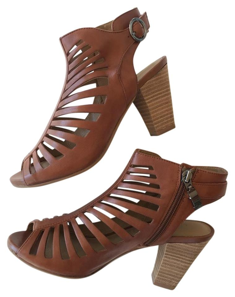 half off 7cd37 da474 Gerry Weber Cream Brown Cut Out Ankle Sandal Boots/Booties Size EU 37  (Approx. US 7) Regular (M, B) 44% off retail