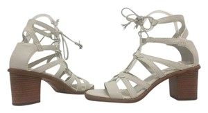 Frye White Soft Leather Sandals