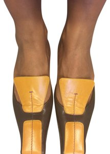 Prada brown & mustard Mules