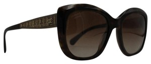 Chanel Polarized Squared Tortoise Gold Tweed Sunglasses 5347 714/s9