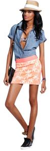 MILLY Neon Pink Mini Mini Skirt Orange