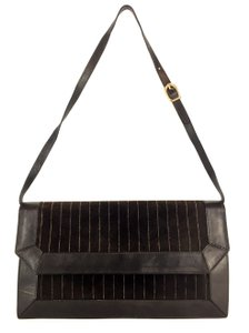 Barbara Bolan Baguette Business Date Night Party Travel Dark Brown Clutch